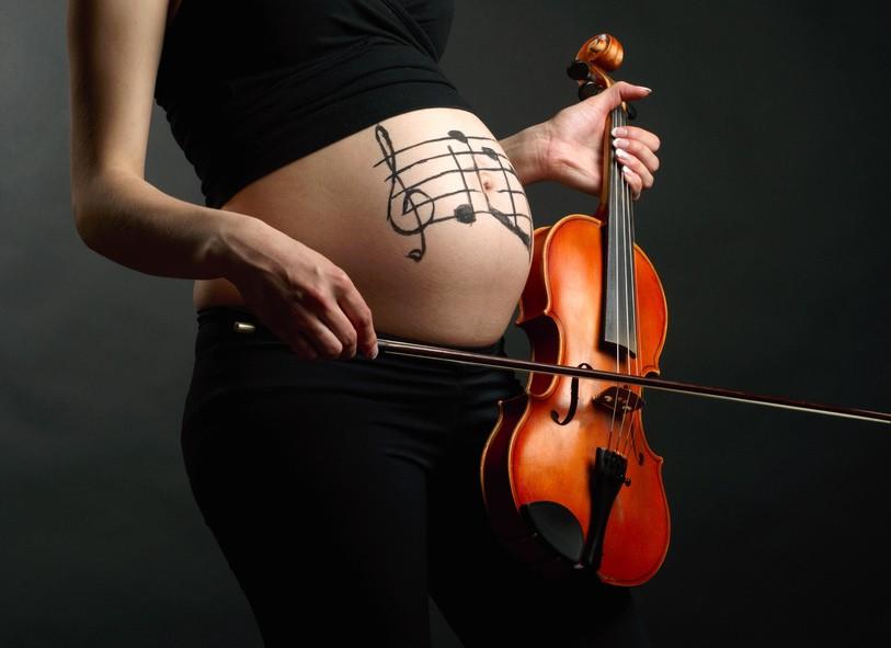 Фотосессия беременных звезд с мужем 42